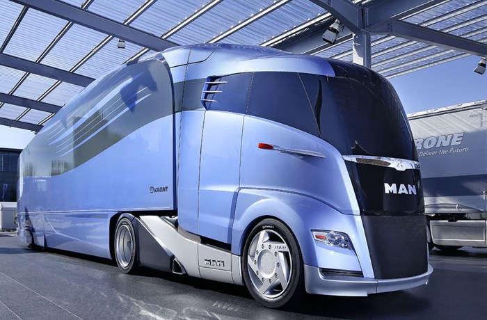 Коммерческие  грузоперевозки  будущего.Футуристический грузовик.