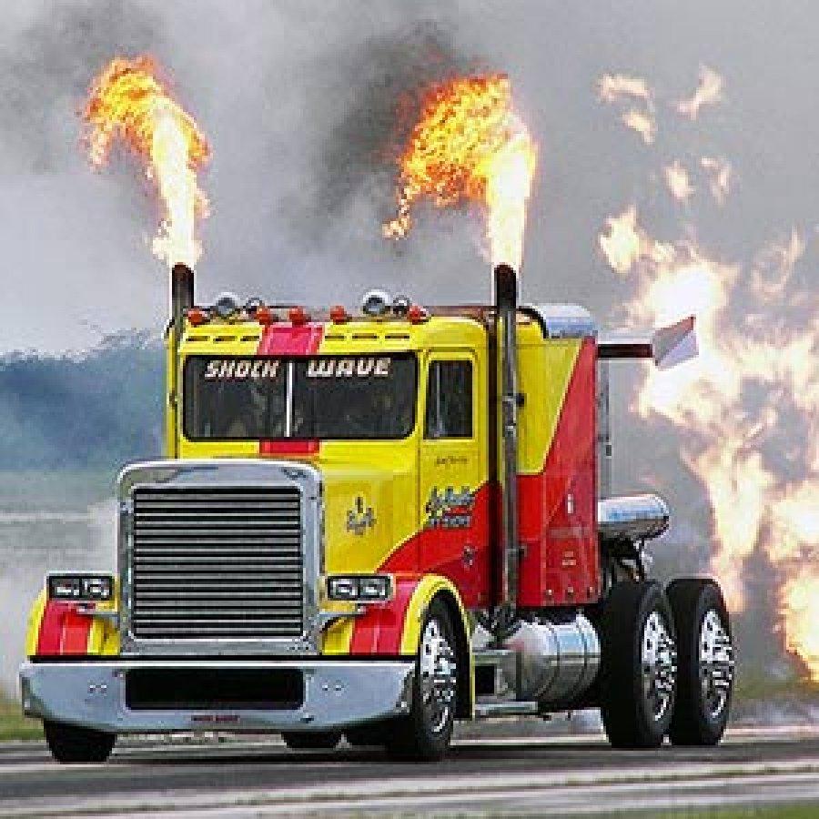 Невероятные  факты о грузовиках.