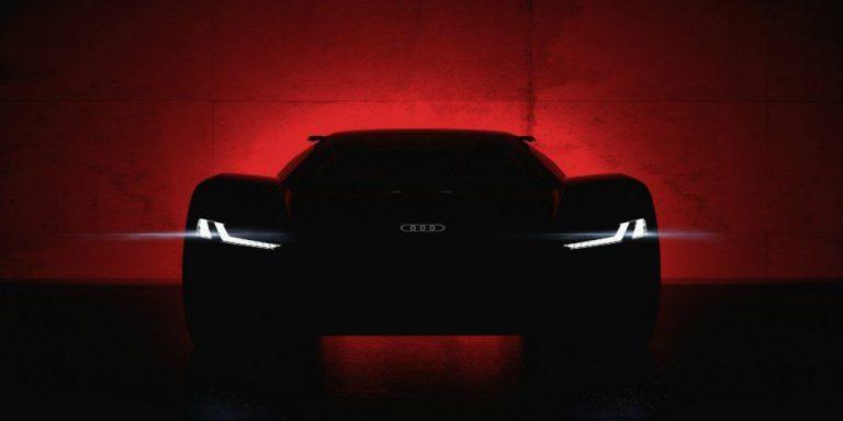 Первый тизер электрического суперкара PB18 E-Tron от Audi