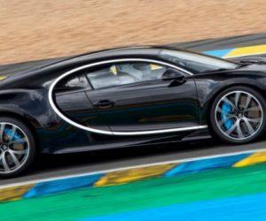 Гиперкар Chiron со стеклянной крышей для высоких автомобилистов  от  Bugatti