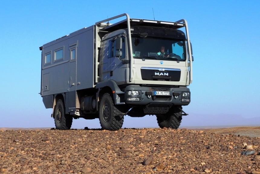 Автодом на шасси MAN - по тундре и пустыне