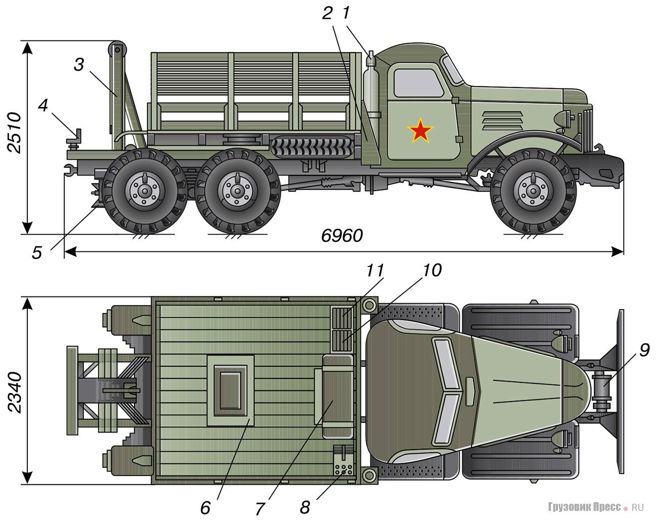 Фронтовой эвакуатор ТК4  на базе ЗИЛ-157