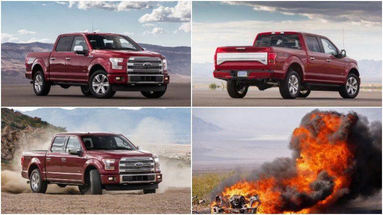Есть риск возгорания Ford  F-150