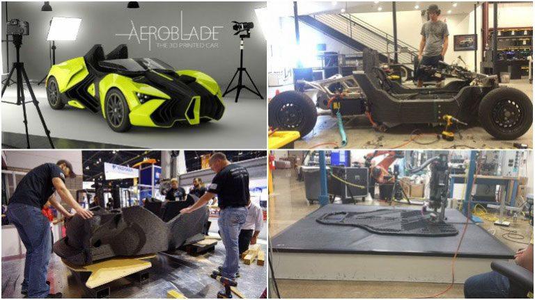 Печать электромобилей на 3D-принтерах