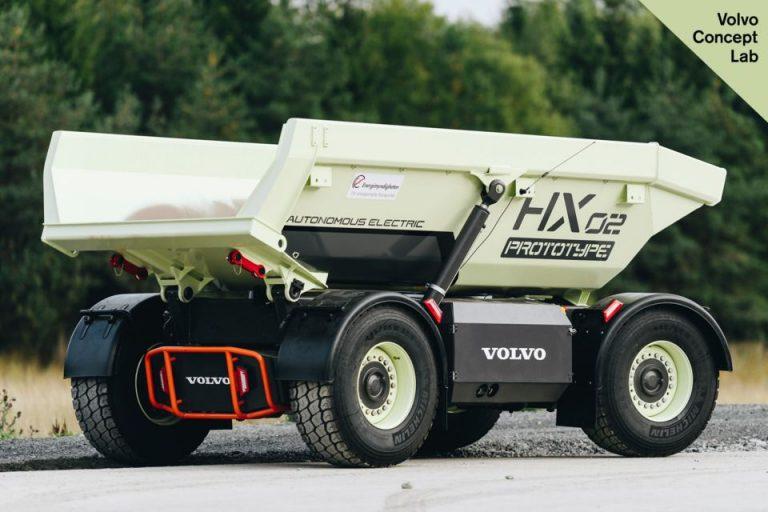 Беспилотные электрические самосвалы  Volvo