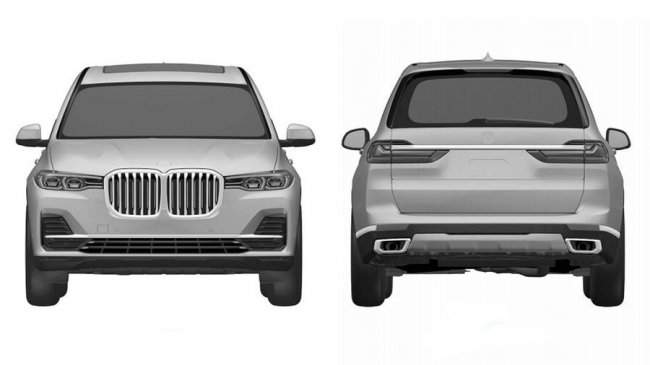 Дизайн нового  BMW X7
