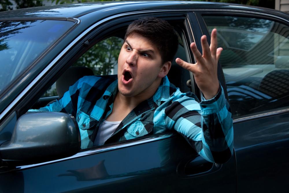 Регионы с  агрессивными водителями
