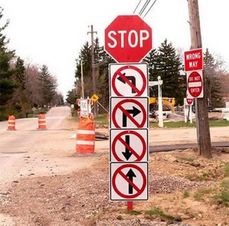 Издевательские дорожные знаки