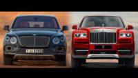 В гонках участвуют Bentley Bentayga и Rolls-Royce Cullinan