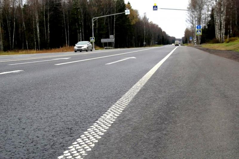 На автотрассах РФ появится шумовая разметка