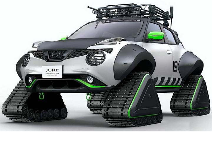 Nissan Juke на гусеничной тяге