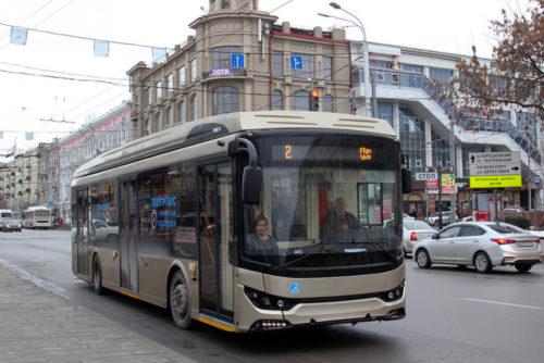 Электробус Тролза с рогами