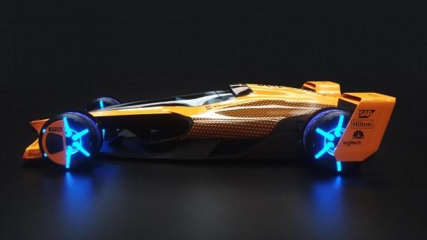 Гоночный автомобиль Formula-1 2050-м глазами   McLaren