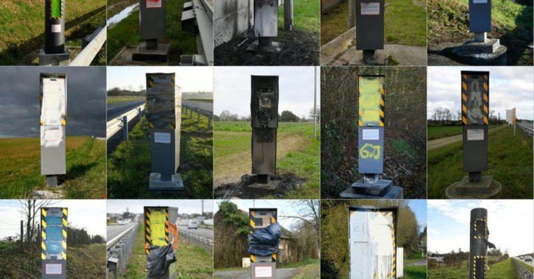 """Во Франции """"Желтые жилеты"""" повально громят дорожные камеры (60% не работает)"""