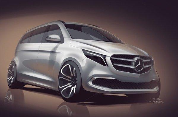 Электрический минивэн Mercedes-Benz