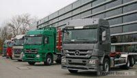 Историческая экспозиция грузовиков Mercedes-Benz