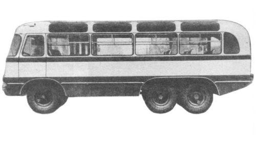 Советский трехосный автобус АТАР-63