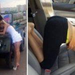 Веселые снимки «Женщина и автомобиль»