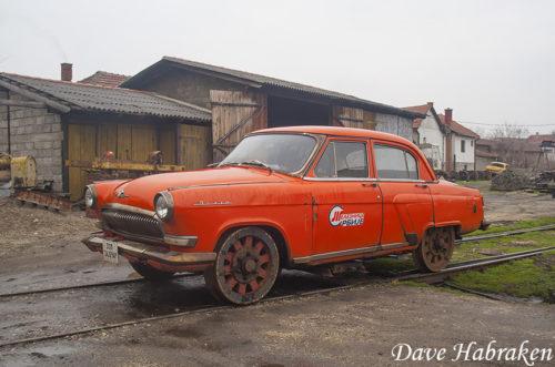 Волга ГАЗ-21 - дрезина из Сербии