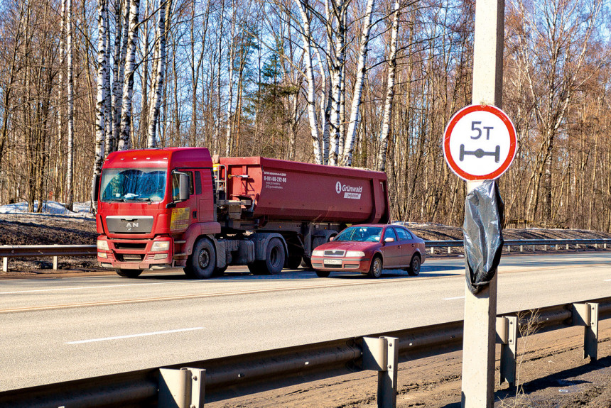 Весеннее ограничение для грузовиков