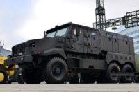Белорусский бронированный грузовик Защитник на базе МАЗ