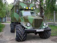 Экспериментальный ГАЗ-63 на арочных шинах