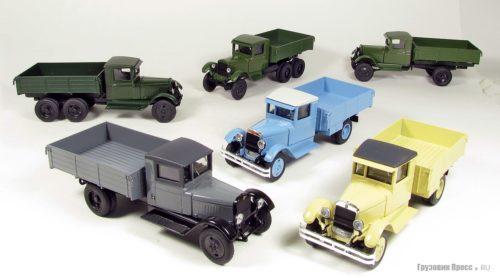 Масштабные модели грузовиков АМО и ЗИС