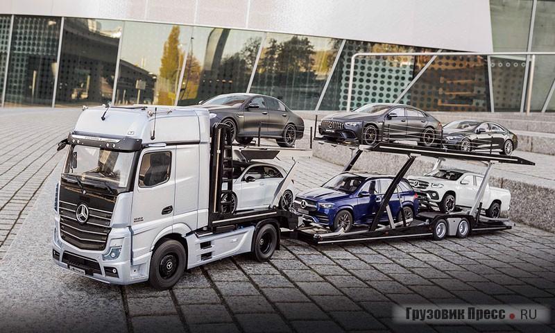 Автовоз Mercedes-Benz Actros в масштабе