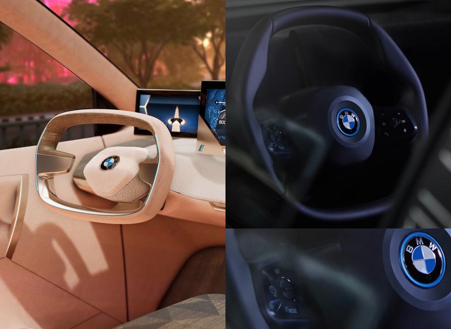 Экзотический руль кроссовера BMW iNext