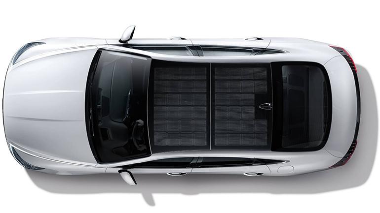 Гибридная Hyundai Sonata с солнечной батареей на крыше