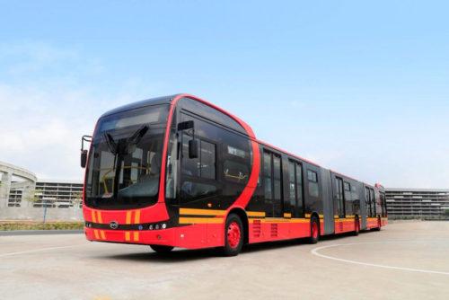 Трехсекционные скоростные электробусы