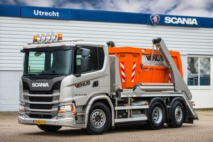 Сверхкороткий мусоровоз Scania