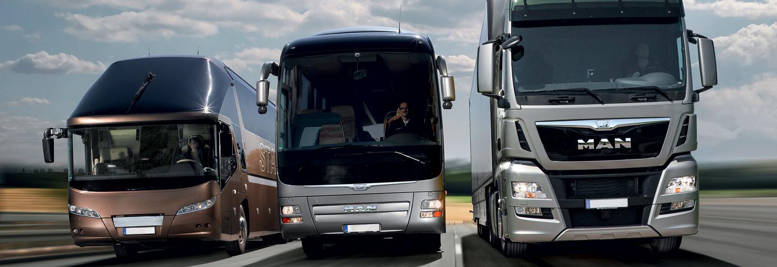 Новые тягачи и автобусы MAN