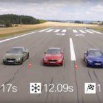 BMW  демонстрирует отличия разных типов шин
