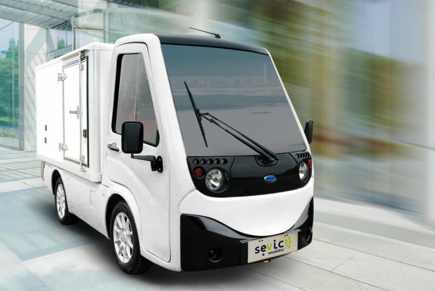 Электрический мини-грузовичок Sevic