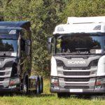 Грузовики Scania с газомоторными двигателями