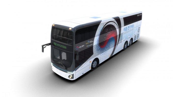 Двухэтажный электрический автобус Hyundai