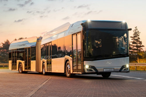Электробусы Solaris без зеркал