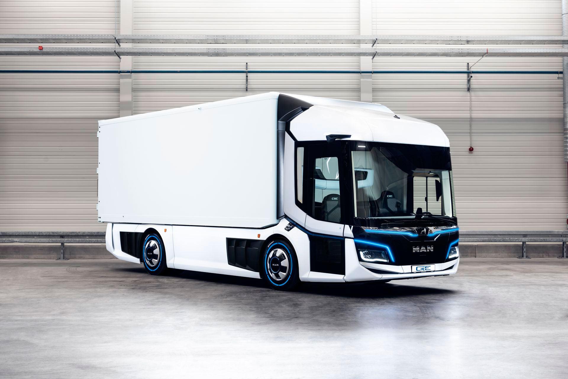 Городской электрический грузовик MAN CitE