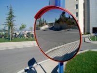 Сферические зеркала на дорогах