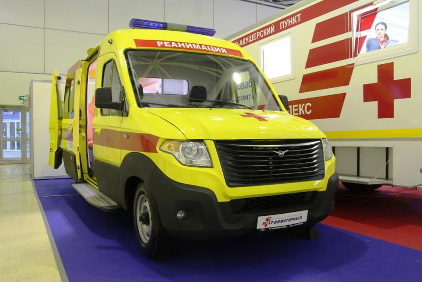 Автомобили скорой помощи на форуме «Здравоохранение» в Москве