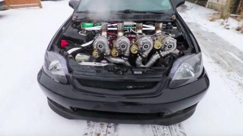 Honda Civic с четырьмя турбинами