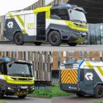 Первая в мире электрическая пожарная машина