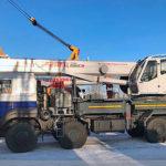 Самая «тяжелая» крановая установка ЧМЗ на автомобильном шасси
