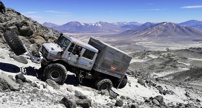 Вездеход «Унимог» покорил рекордную высоту — 6694 метра