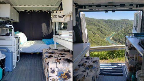 Всего за $1000 фургон Ram Promaster превратили в уютный дом