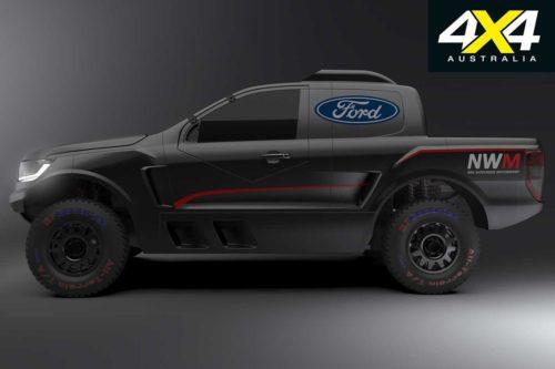 Гоночный Ford Ranger с двигателем GT