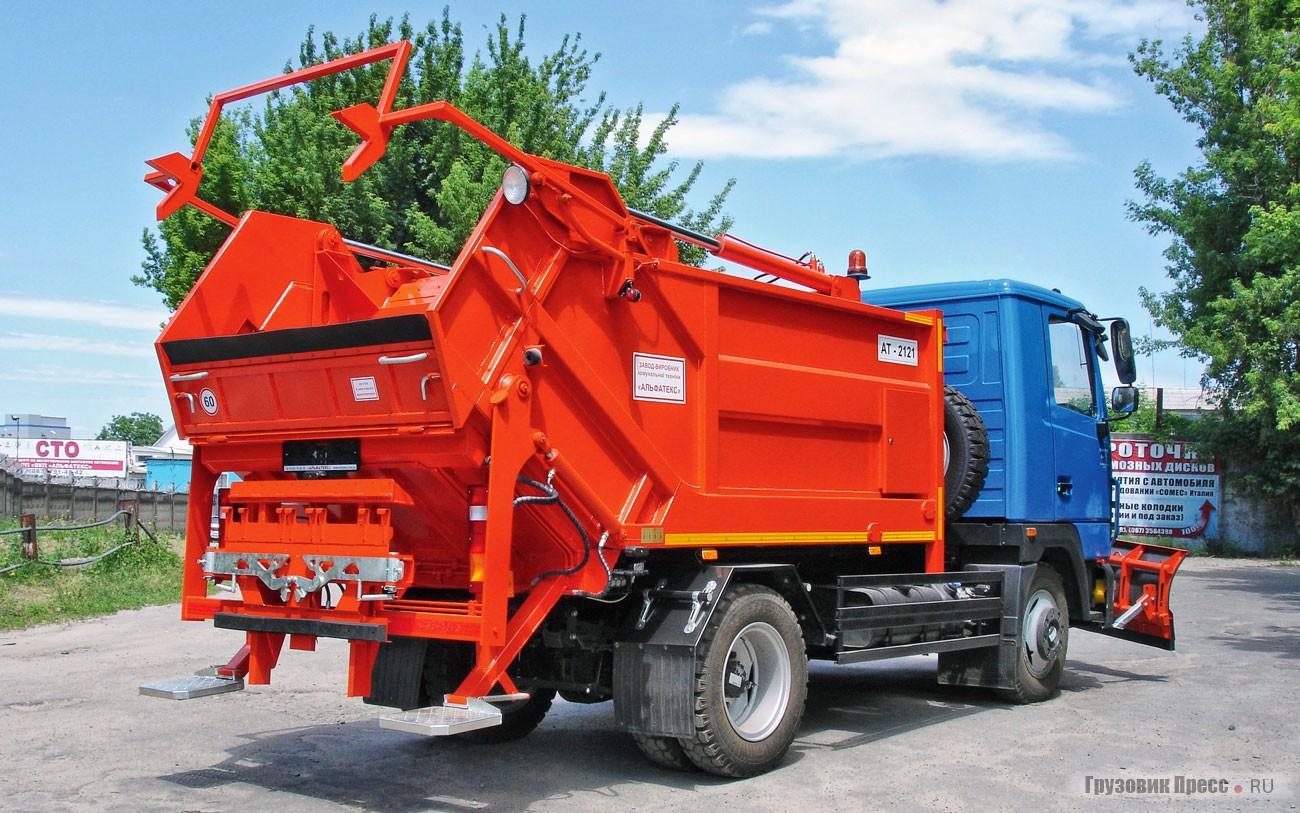 Кременчугский мусоровоз с лопатой