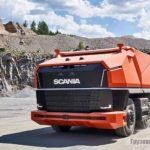 Самосвал-беспилотник Scania AXL