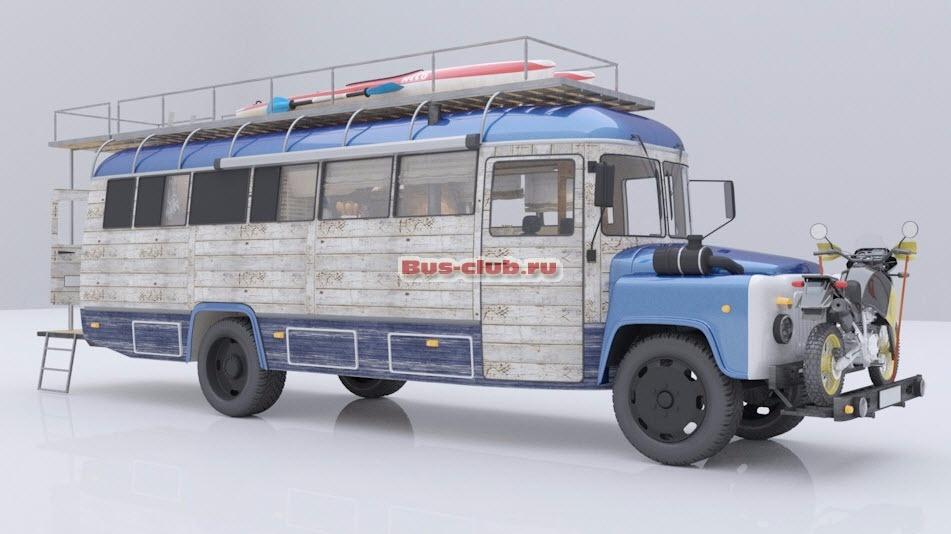 Из автобуса КАВЗ сделан автодом